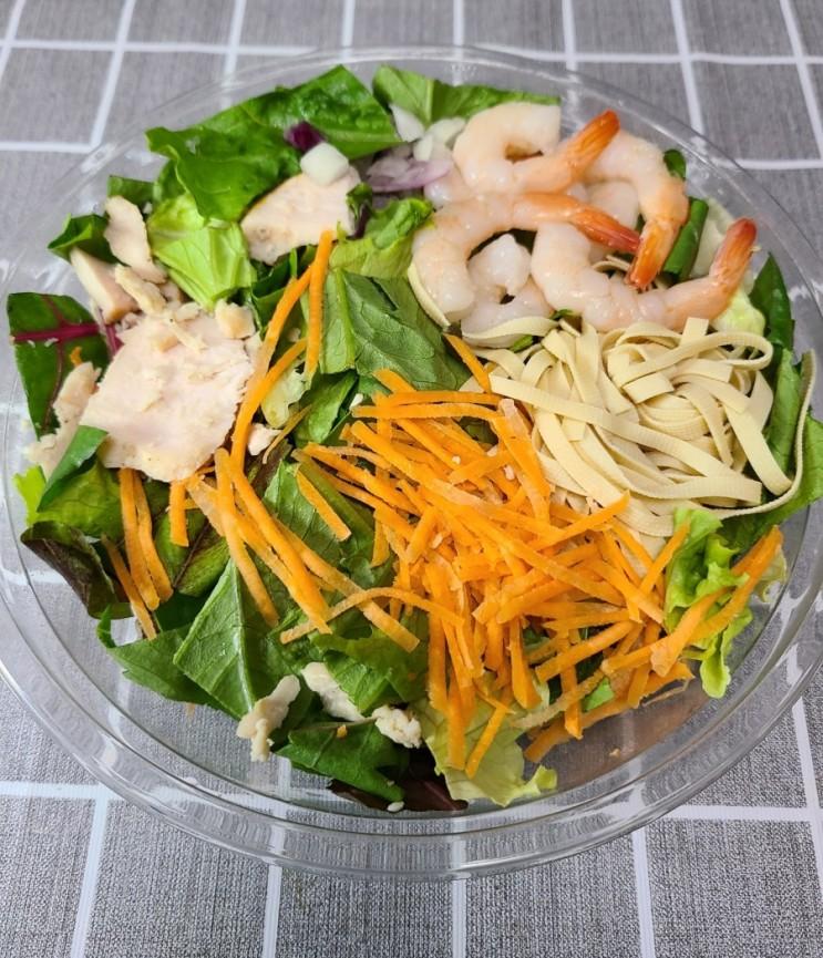 [다이어트 식단] 팜플래닛 오리엔탈 쉬림프 샐러드 칼로리 및 맛평가 🥗