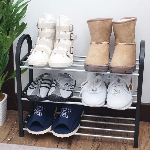 인지도 있는 인터바겐 좁은 아파트 현관 간이 미니 철제 신발장 신발 거치대 정리대 슈즈렉 슈즈랙, 1개 좋아요