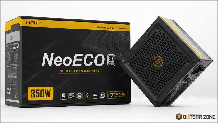 퀘이사존 안텍 네오에코 Antec NeoECO 850W 80PLUS PLATINUM 풀모듈러 파워 제품 소개 및 테스트 결과