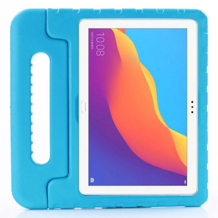 구매평 좋은 화웨이 미디어패드T5 10.1 에바폼 손잡이 범퍼 케이스, 블루 좋아요