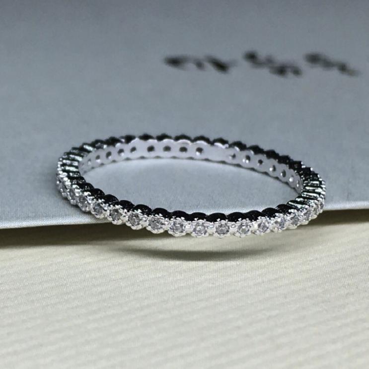 가성비갑 실버925 한바퀴 큐빅 레이어드 패션 은 반지 커플 우정 링 여성 악세사리 좋아요