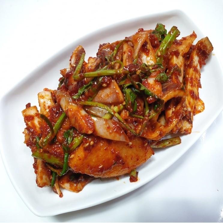 최근 많이 팔린 밥도둑세상 국내산 오징어초무침 1kg, 1팩 좋아요