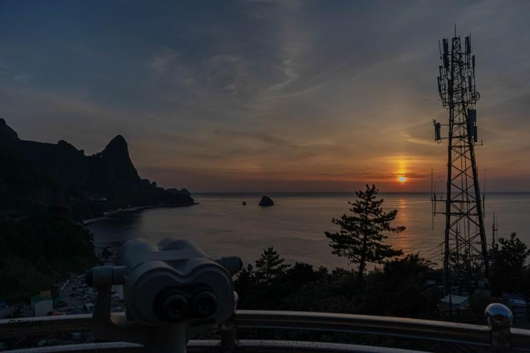 5월여행 가볼만한곳 울릉도 송곳산 코끼리바위가 보이는 천부일몰전망대 여자혼자국내여행 2박3일