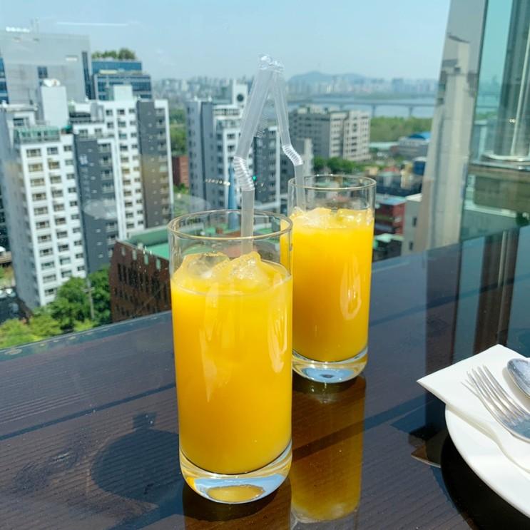 서울 루프탑바 '아일360' : 선유도 더파크호텔 가성비 브런치! 뷰까지 굿!