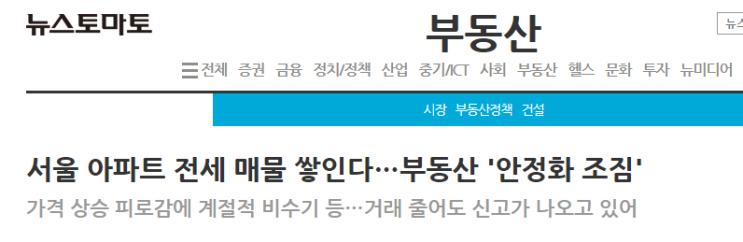 5월 부동산 분위기 반전(feat. 예상된 결말)