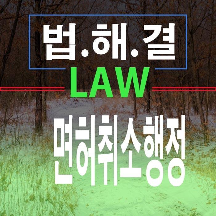 음주운전중 사망한경우 면허취소행정판례