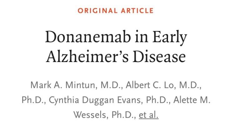 [NEJM] 알츠하이머 치매 - 신약의 가능성