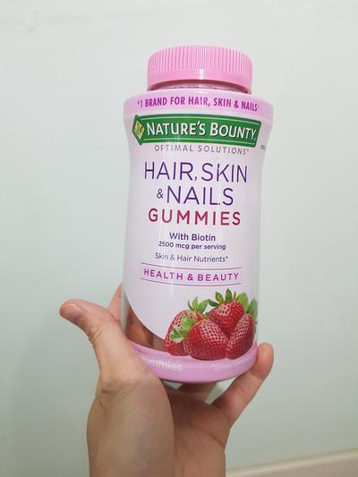 Natures Bounty, Optimal Solutions, 모발, 피부 및 손발톱용, 딸기 맛, 젤리 비타민