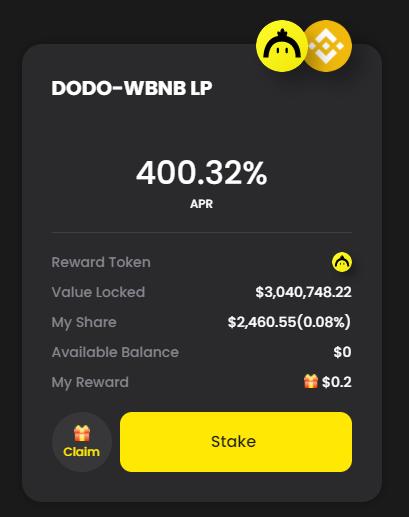 도도(DODO) 신규 팜 런칭 : DODO-WBNB