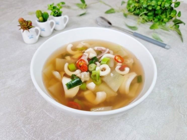 오징어무국만드는법 오징어요리로 간단한 저녁메뉴추전