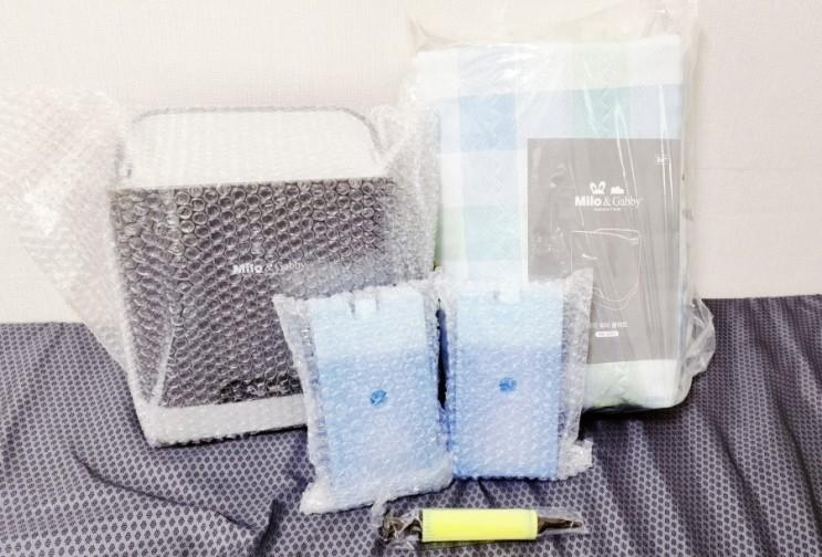 땀이 많은 아기를 위한 아이 워터 쿨매트 개봉기 & 사용기