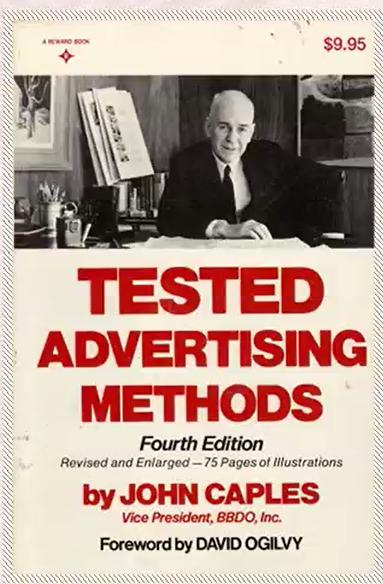 헤드라인, 광고 카피에 관한 책. 존 케이플즈의 <헤드라인을 쓰는 29가지 공식>