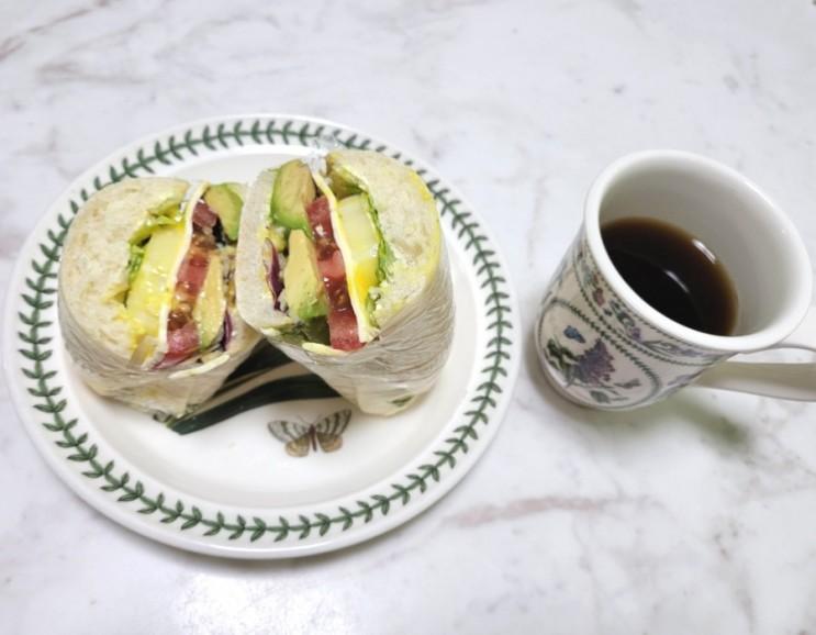 치아바타 아보카도 샌드위치 만들기