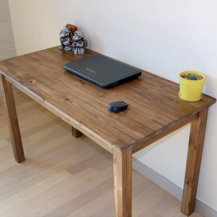 가성비 뛰어난 다인가구 삼나무 원목책상(도장월넛) 컴퓨터책상 테이블 통다리 800 1000 1200 1400 1600 1800, 원목책상도장월넛 1000 추천합니다