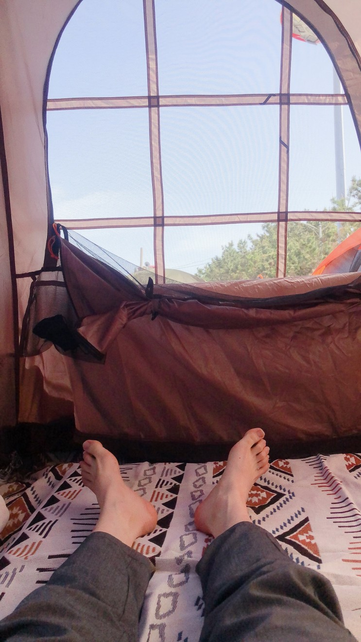 캠핑용품!!고투 자충 에어매트, 보헤미안 카페트, 스탠리 워터저그 사용 후기