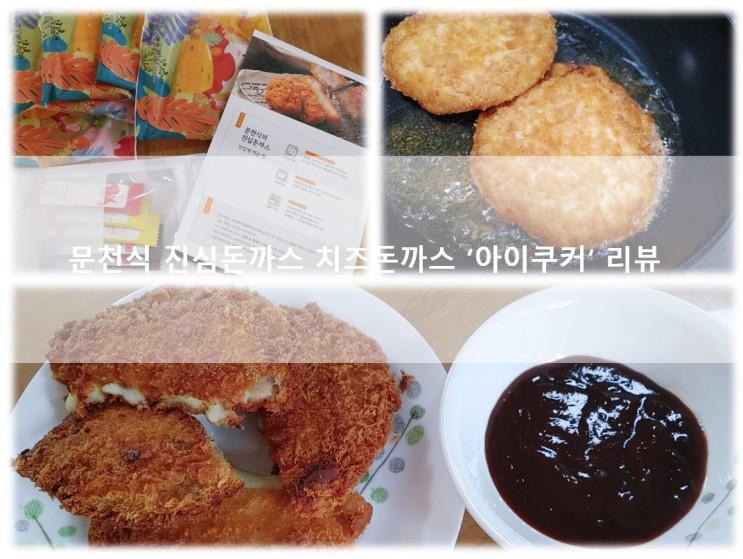 [치즈돈까스] 문천식 진심돈까스로 맛있는 돈까스 맛보기 아이쿠커