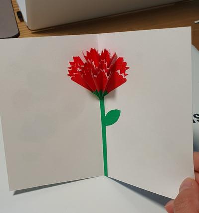 초간단 카네이션 종이접기, 유치원선생님 스승의날 선물