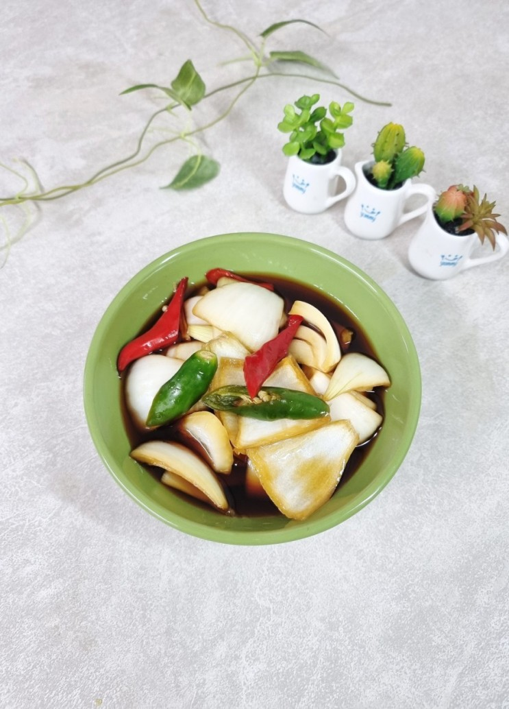 양파장아찌 만드는법 초간단 간장황금비율. 양파요리
