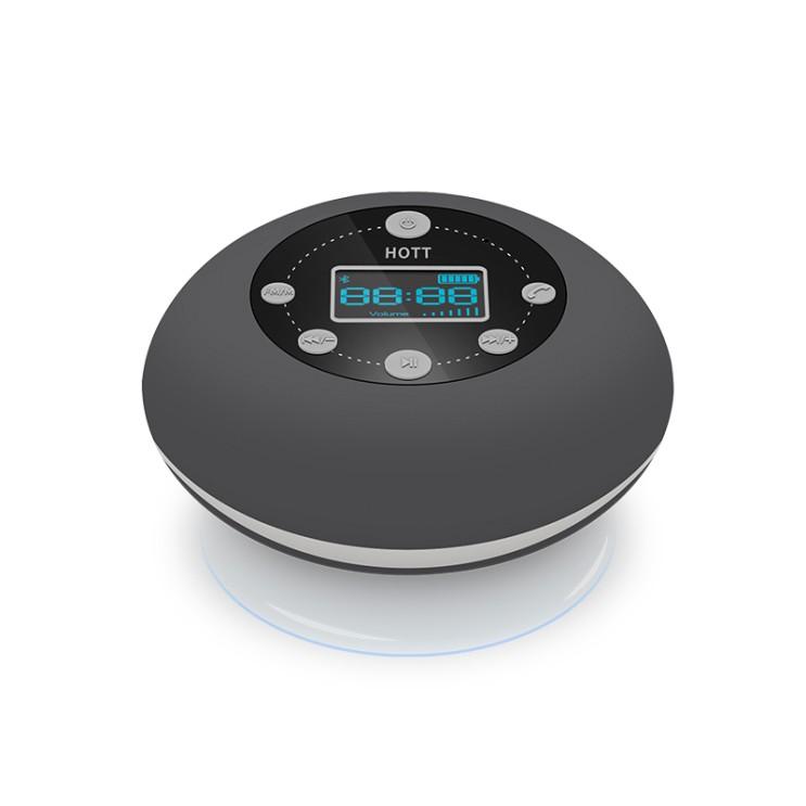 구매평 좋은 블루투스 스피커 방수 욕실 흡착판 주방 층간소음우퍼스피커 라디오 시계, 2번 좋아요
