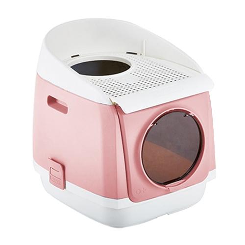 선택고민 해결 tomcat 프리캐빈 대형 고양이 화장실 고급형 특대형, 핑크 좋아요