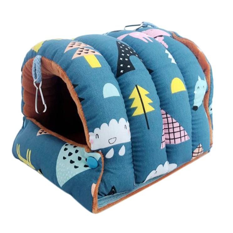 후기가 정말 좋은 QDY 따뜻한 새 집 해먹 수면 침대 중소 앵무새 파란색 대형 추천해요