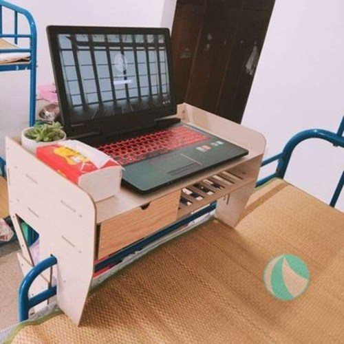 리뷰가 좋은 이동식 모듈 협탁 간이 사이드 침대 테이블 위의 작은 탁자의 고정 옆에 대학생, 01 58x30cm탁상_원목홑겹 좋아요