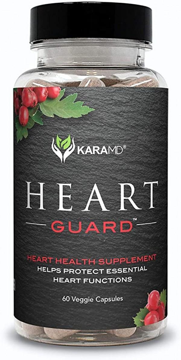 선호도 높은 KaraMD 하트 가드 | Doctor Formulated Natural 심장 혈관 심장 건강 및 혈압 보조제 | 건강한 순환 및 동맥 기능 지원 | 마그네슘 및 포도