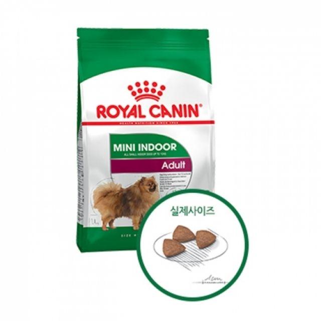 리뷰가 좋은 강아지사료 로얄캐닌 독 미니 인도어 어덜트 7.5kg 추천해요