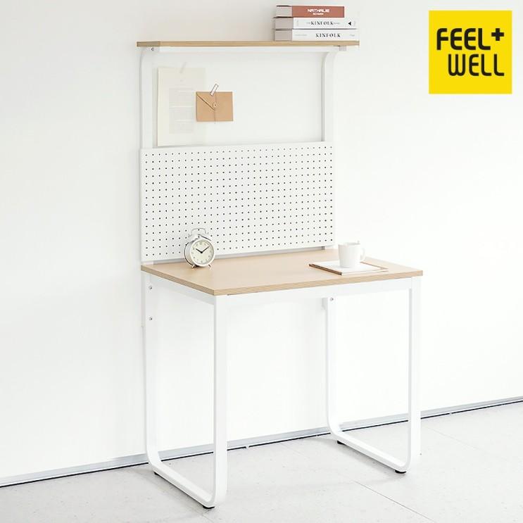 가성비 좋은 HL5001 필웰 루피노 라운드 타공판 책상 테이블 800, 블랙프레임월넛상판 추천합니다