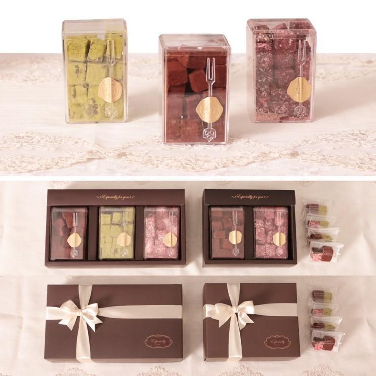리뷰가 좋은 쿡앤베이크 부드러운 우유생크림 파베 초콜릿 만들기세트 리얼초콜릿+최대용량, 선택1_퍼펙트 파베세트(3단상자 포함형), 1개 ···