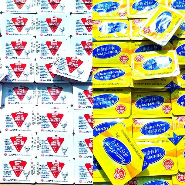 인기 많은 오뚜기 일회용 버터 50개+일회용 딸기쨈 50개 1+1 아이스박스발송, 1.1g, 1개 좋아요