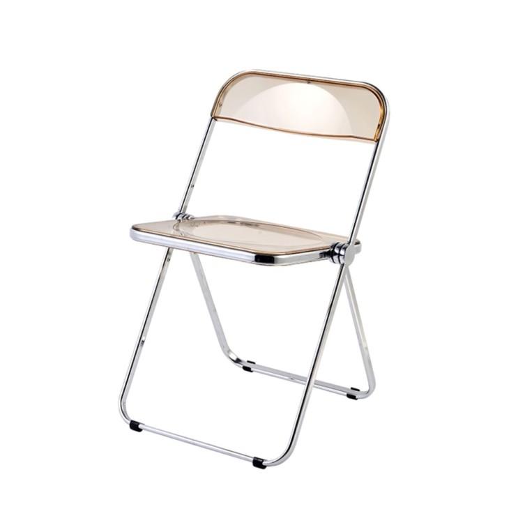 구매평 좋은 투명 폴딩체어 북유럽 접이식 의자 현대식 심플 아크릴 의자, D 추천합니다