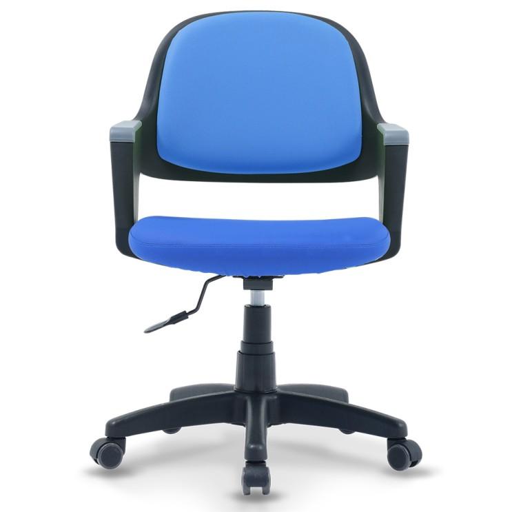 선택고민 해결 체어클럽 터치백 인조가죽 블랙바디 의자, 블루 ···