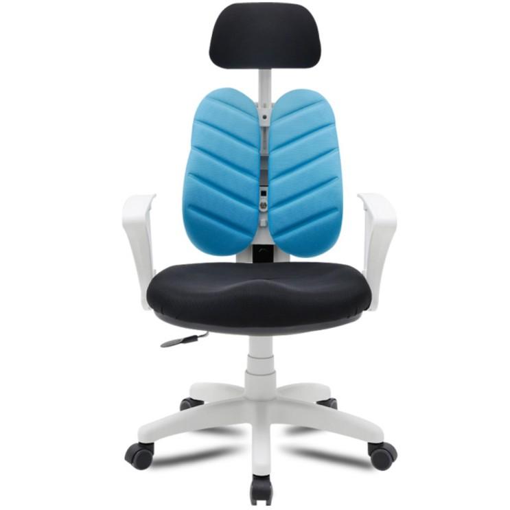 인기있는 체어포커스 필링체어 BW 헤더형 화이트 바디 의자, 블루 추천합니다