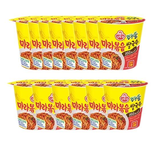 인기 많은 오뚜기 컵누들 마라볶음 쌀국수 48g, 14개 ···