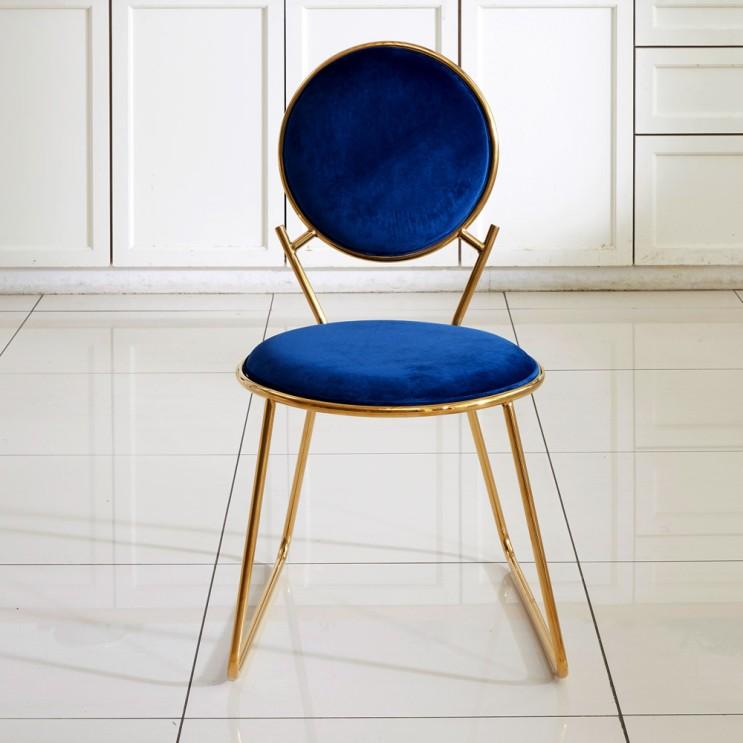 최근 인기있는 엘린까사 티아라 골드벨벳 의자, 네이비 추천합니다