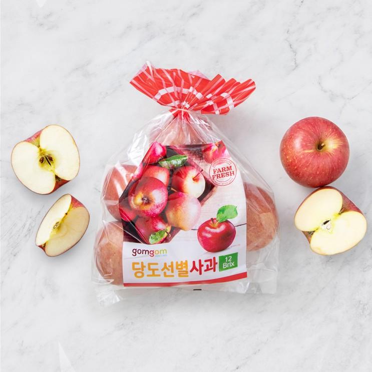 핵가성비 좋은 곰곰 당도선별 사과, 1.5kg, 1봉 ···