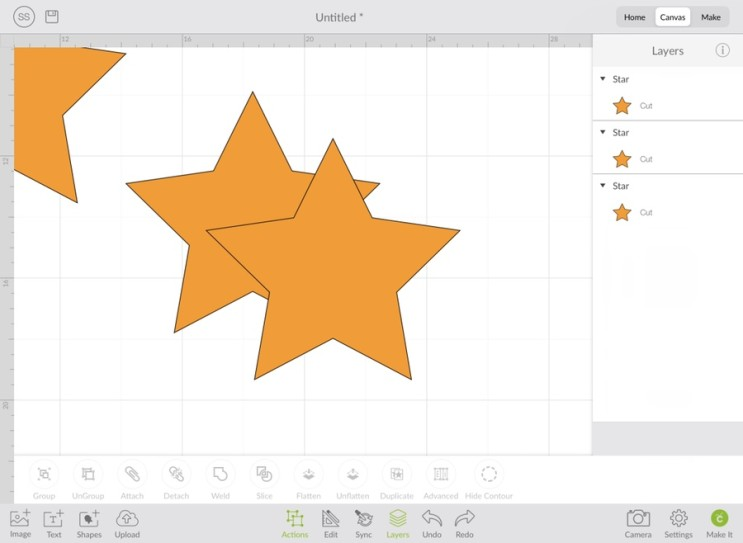 크리컷_[11] Cricut Design space (디자인스페이스) 아이패드에서 실행하기 - Canvas(3) Actions