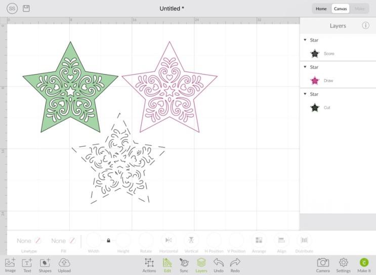크리컷_[12] Cricut Design space (디자인스페이스) 아이패드에서 실행하기 - Canvas(4) Edit & Make