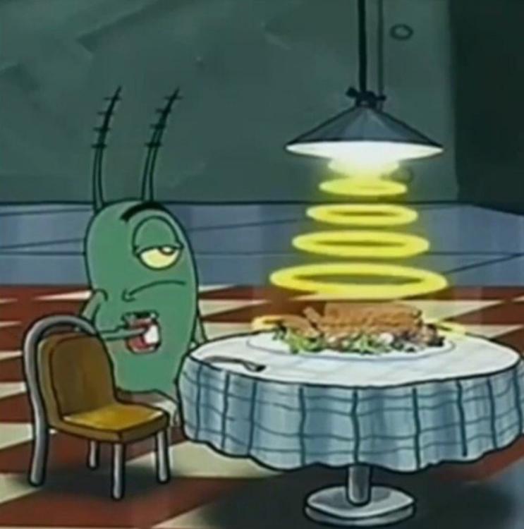 의외로 고증에 맞는 스폰지밥 플랑크톤 식사