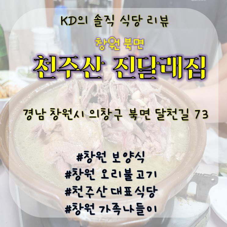 [창원 북면] 천주산 진달래집 / 창원 오리불고기 / 창원 보양식 / 창원 백숙