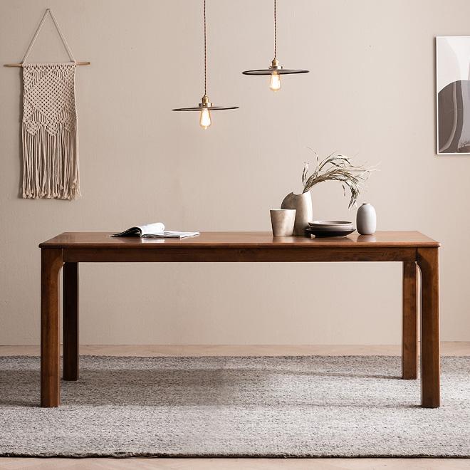 최근 인기있는 바렌트 고무나무 원목 6인용 식탁 테이블 1800, 단품 추천합니다