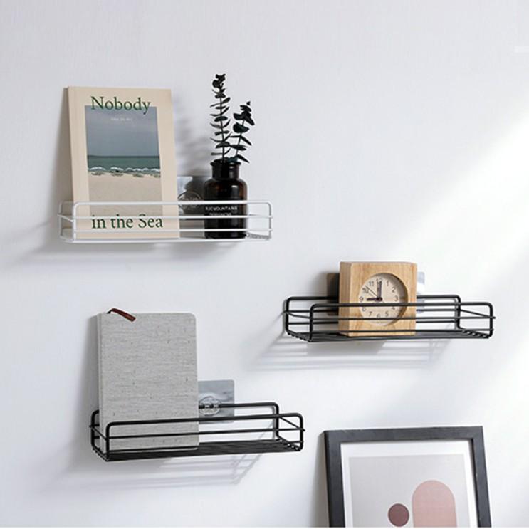 인기 많은 무타공 무지주 철제 벽선반 인테리어 주방 거실 욕실 붙이는 벽걸이선반 수납장, 블랙 좋아요