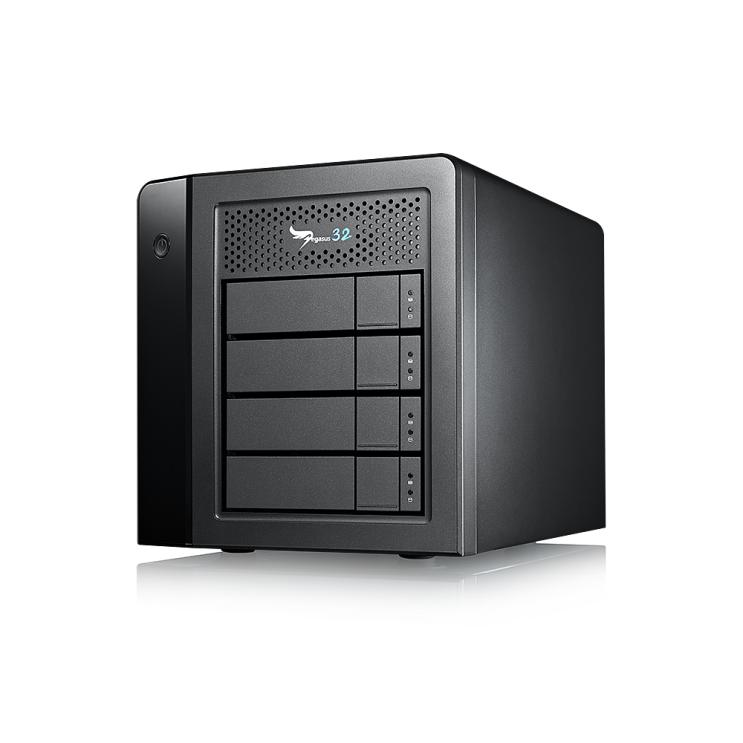 후기가 좋은 PROMISE Pegasus32 R4 16TB 썬더볼트3 USB3.2 4베이 외장HDD, 블랙 추천합니다
