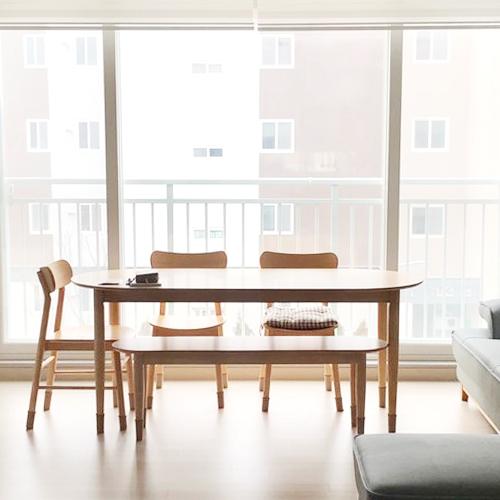 후기가 좋은 [단독 최저가+신상품 할인쿠폰] 포더홈 오른 원목 다이닝테이블/식탁 세트 (4size) (의자포함구성) 원형식탁 타원형식탁 반타원형식탁 4인용식탁세트 6인용식탁세트 이