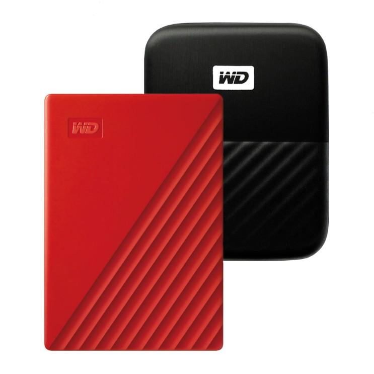 인지도 있는 WD My Passport 휴대용 외장하드 + 파우치, 5TB, 레드 추천해요