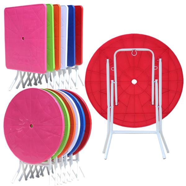 잘팔리는 fs h야외테이블편의점테이블접이식탁자보조탁자, 원형-파랑 좋아요
