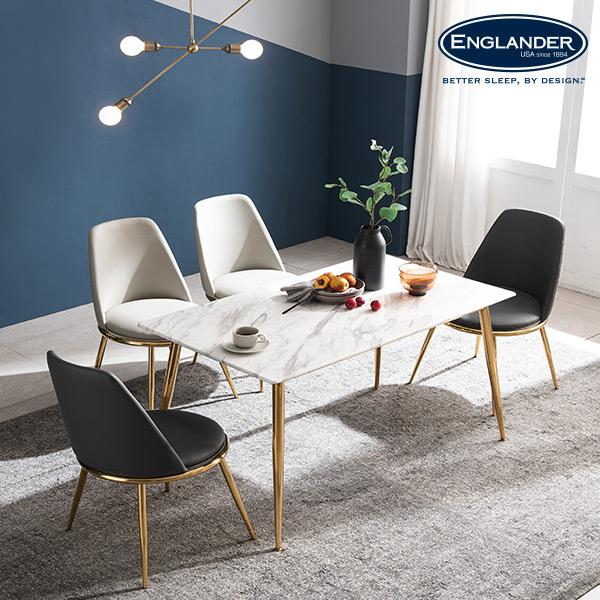 선호도 좋은 잉글랜더 브레아 RB세라믹 4인용 식탁(의자 미포함) 식탁세트, 마블화이트 ···
