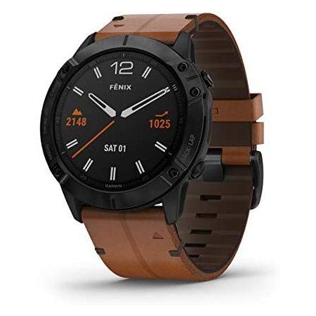 리뷰가 좋은 [아마존베스트]Garmin fenix 6X Sapphire Premium Multisport GPS Watch Features Mapping Music Grad, Bl