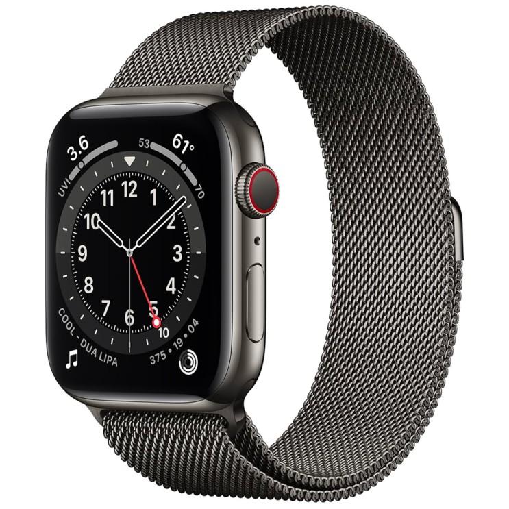 많이 팔린 Apple 애플워치 6, GPS+Cellular, 그래파이트 스테인리스 스틸 케이스, 그래파이트 밀레니즈 루프 추천해요